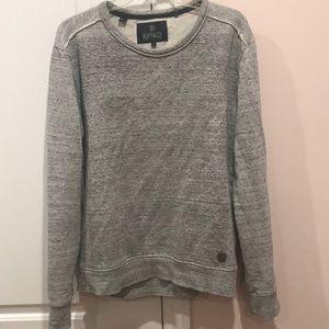 Buffalo Mens Gray Crew Neck Sweater Medium